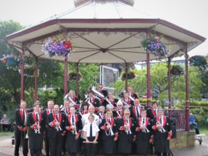 Band Picture at Victoria Park Bandstand