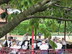 Band at Victoria Park Bandstand