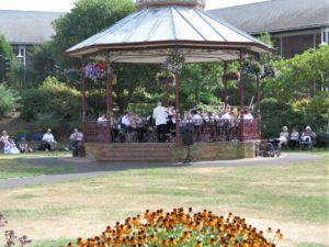 Band at Victoria Park Bandstand