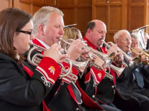 Cornet players at David Watson's 70th Concert