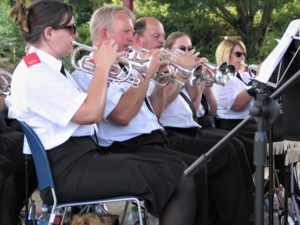 Front Row Cornets at Victoria Park Bandstand