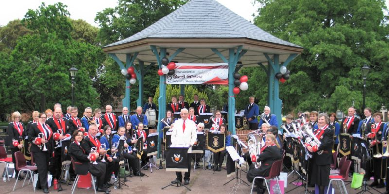 Surprise Trip to Harwich to Celebrate David Watson's 70 Years in Brass Banding – June 2015
