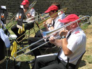 Trombones at Bibury Fete