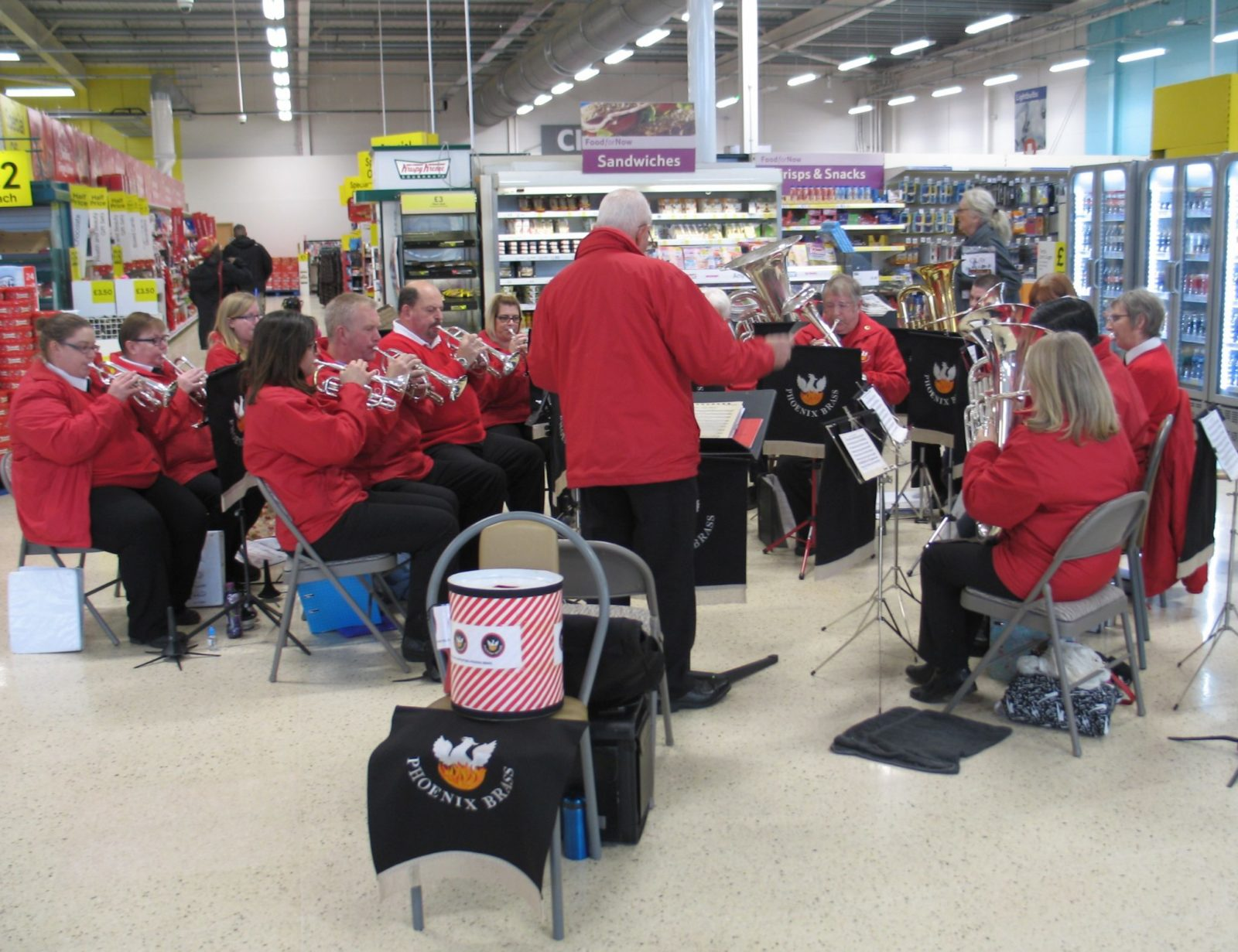 Tesco Tidworth - Playing for Remembrance