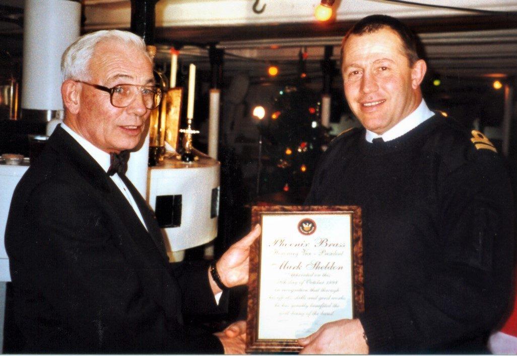 Mark Sheldon receiving Vice Presidency