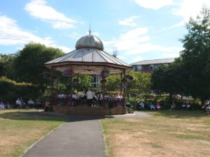 Panorama view of Victoria Bandstand